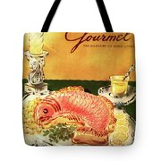 Gourmet Cover Illustration Of Salmon Mousse Tote Bag