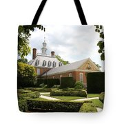 Governers Palace Garden Colonial Williamsburg Va Tote Bag