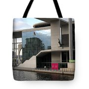 Government District With Reichstag Reflection Tote Bag