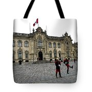 Government Palace Guards In Lima Tote Bag