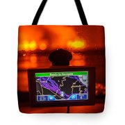 Gps With The Holuhraun Fissure Eruption Tote Bag