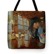 Grab Tear And Spill Tote Bag
