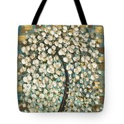 Cherry Blossom Tree- Snow Funtain  Tote Bag