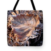 Graced By Frost Tote Bag