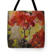 Graceful Geraniums Tote Bag