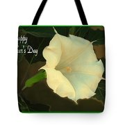 Graceful Moonflower - Happy Mother's Day Tote Bag
