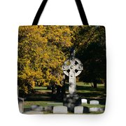 Graceland Cemetery Chicago - Tomb Of John W Root Tote Bag by Christine Till