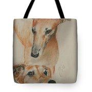 Graciously Greyhound Tote Bag