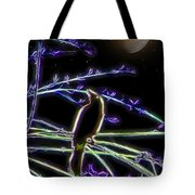 Grackle In The Willow Tree Tote Bag
