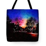 Graduate Housing Princeton University Nightscape Tote Bag