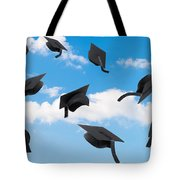 Graduation Mortar Boards Tote Bag