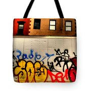 Graffit With Taxi Tote Bag