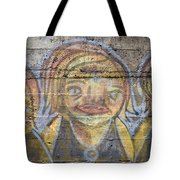 Graffiti Covered Cement Wall Tote Bag