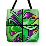Graffiti In Green Tote Bag