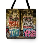 Graffiti On The Walls, Tenth Street Tote Bag