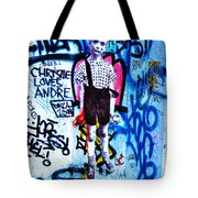 Graffiti Rendition Of Diane Arbus's Photo - Child With Toy Hand Grenade In Central Park Tote Bag