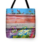 Graffiti With Flags Tote Bag