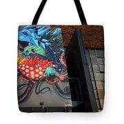 Grafitti And The Panes Tote Bag