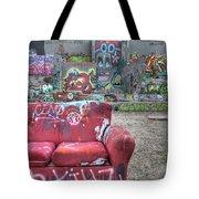 Grafitti Couch Tote Bag