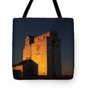 Sunset Grain Elevator At Meadows Tote Bag by Steve Boyko