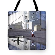 Grain Elevators And Child Tote Bag