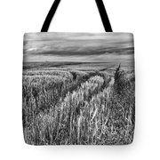 Grain Field Tracks Tote Bag