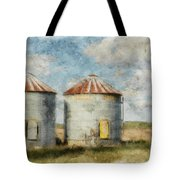 Grain Silos - Digital Paint Tote Bag