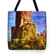 Grain Silos With Digital Painted Effect Tote Bag