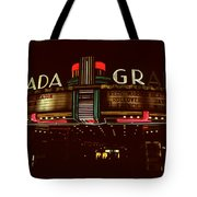 Night Lights Granada Theater Tote Bag