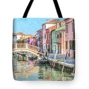 Grand Canal Burano  Venice Tote Bag