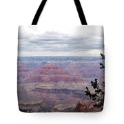 Grand Canyon Awaiting Snowstorm Tote Bag