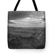 Grand Canyon Black And White Tote Bag
