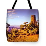 Grand Canyon National Park Golden Hour Watchtower Tote Bag