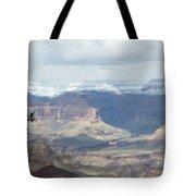 Grand Canyon Shadows And Snow Tote Bag