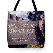 Grand Canyon Signage Tote Bag