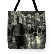 Grand Central Abstract In Black And White Tote Bag
