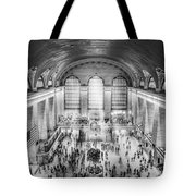 Grand Central Terminal Birds Eye View Bw Tote Bag