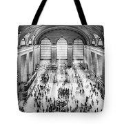 Grand Central Terminal Birds Eye View I Bw Tote Bag