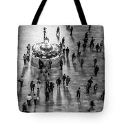 Grand Central Terminal Clock Birds Eye View II Bw Tote Bag
