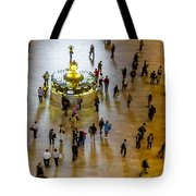 Grand Central Terminal Clock Birds Eye View  Tote Bag