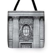 Grand Central Terminal Facade Bw Tote Bag