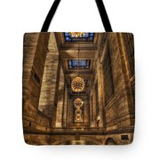 Grand Central Terminal Station Chandeliers Tote Bag