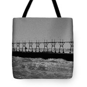 Grand Haven Light In Black And White Tote Bag