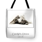 Grand Kitty Cuteness Miss Tilly Poster Tote Bag by Andee Design