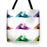Grand Kitty Cuteness Pop Art 9 Tote Bag