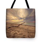 Grand Mere Sunset - Driftwood Tote Bag