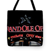 Grand Ole Opry Entrance Tote Bag