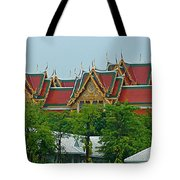 Grand Palace Of Thailand From Waterways Of Bangkok-thailand Tote Bag