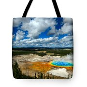 Grand Prismatic Pool Yellowstone National Park Tote Bag