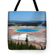 Grand Prismatic Spring From Above Tote Bag
